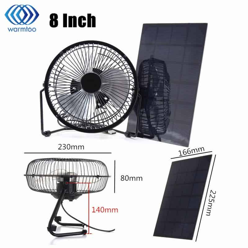 Make Use Of Solar Powered Fan In Summer And Save Power